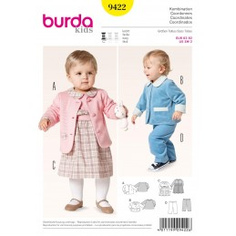 f2af8a2810 In Stock Burda KidsBaby Toddler Jacket Dress Trousers Fabric Sewing Pattern  9422