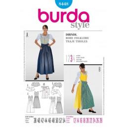 Burda Dirndll Dress Fabric Sewing Pattern 8448