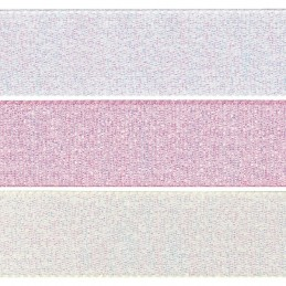 15mm x 2m, 5m or 20m Berisfords Dazzle Polyester Craft Ribbon