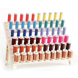 Premium 60 Spool Sewing Thread Organizer Embroidery Storage Rack