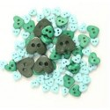 Mini Craft Love Hearts Acrylic Plastic Assorted Buttons