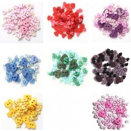 Buttons Mini Love Hearts Acrylic Plastic Assorted 2.5g Pack Craft