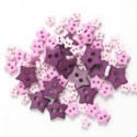 2.5g Pack Mini Craft Love Hearts Acrylic Plastic Assorted Buttons