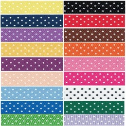 10mm Berisfords Micro Dot Spots Polyester Craft Ribbon