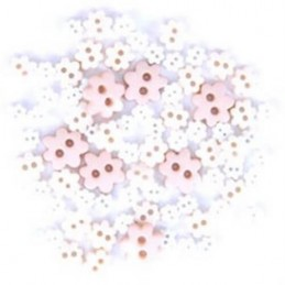 2.5g Pack Mini Craft Floral Flowerhead Acrylic Plastic Assorted Buttons