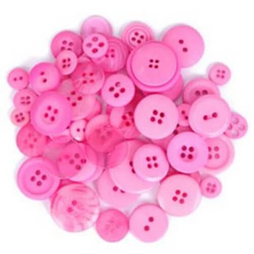40g Pack Circular Acrylic Plastic Assorted Size Craft Buttons