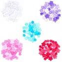 1.5g Pack Mini Stars Acrylic Plastic Transparent Craft Buttons