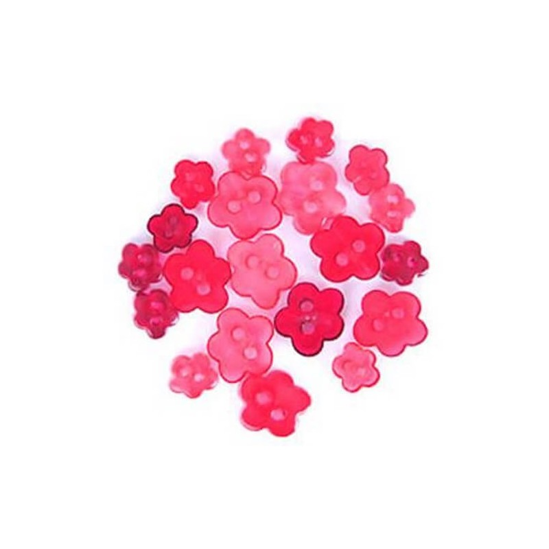 1.5g Pack Mini Floral Flowerheads Acrylic Plastic Transparent Craft Buttons