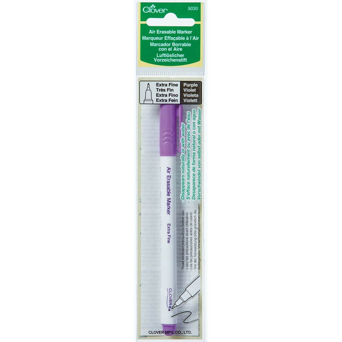 Clover Air Erasable Marker - Extra Fine - Purple