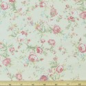 Ivory 100% Cotton Poplin Fabric Rose & Hubble Roses Bunches Flower Of Love