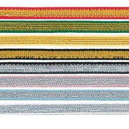3mm x 2m, 5m or 20m Berisfords Dragonfly Metallic Polyester Craft Ribbon