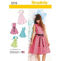 Girl's & Girl's Plus Dresses & Shrug Simplicity Fabric Sewing Patterns 1213
