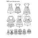 Child's Girl's Dresses 2 Lengths Simplicity Fabric Sewing Patterns 1211