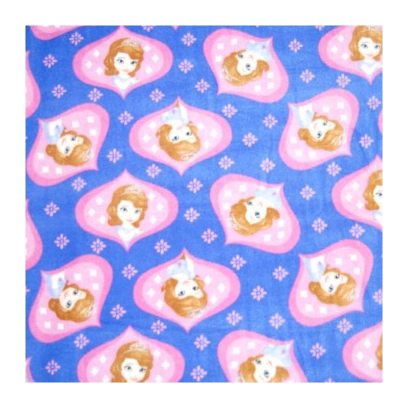 Disney Sofia Happy Princess Stars Anti Pil Polar Fleece 150cm