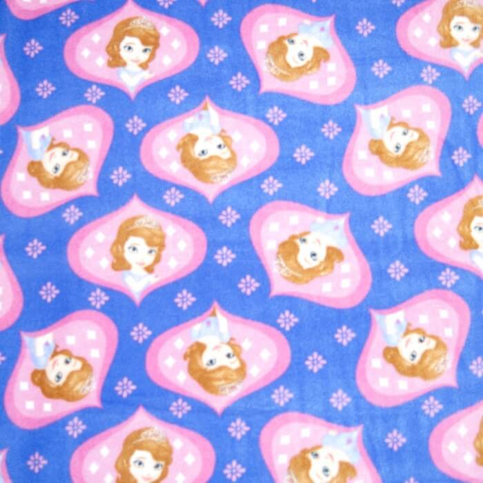 Disney Sofia Happy Princess Stars Anti Pil Polar Fleece 150cm
