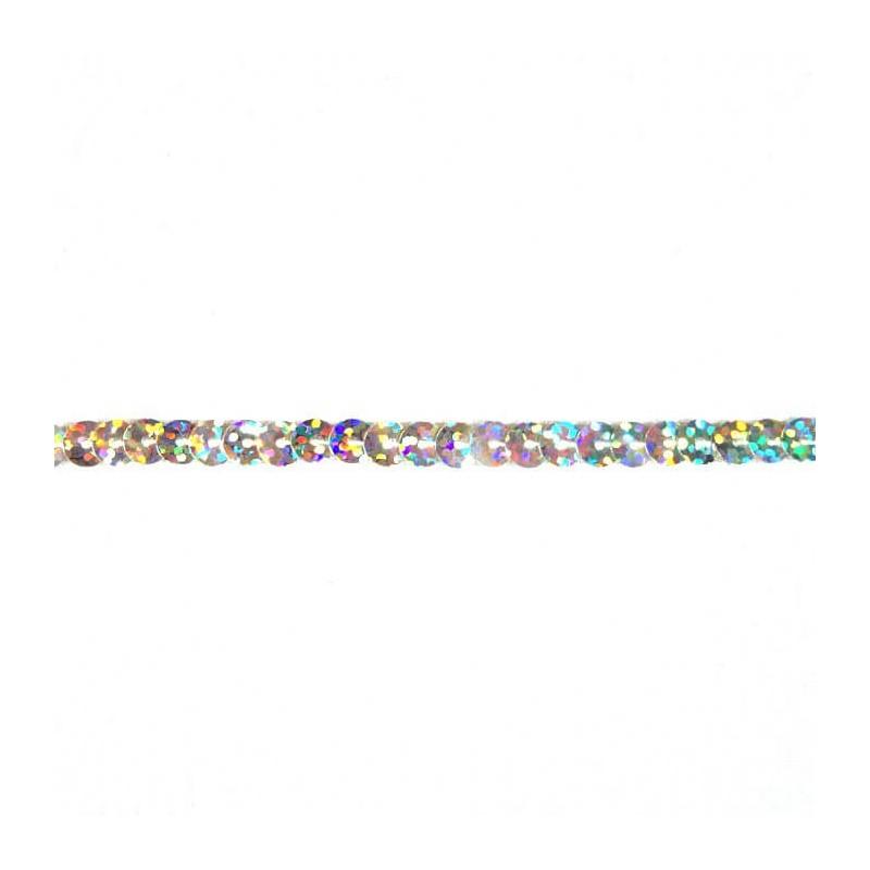 Tiny 6mm Shiny Craft Flat Strung Hologram Sequins 1 Metre Trimits