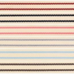 15mm x 4m Berisfords Tea Towel Ribbon Polyester Craft Stripes Lines Reel