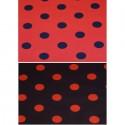 25mm Red & Black Polka Dots Spots Polycotton Fabric