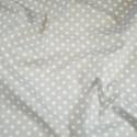 100% Cotton Poplin Fabric Rose & Hubble 7mm Polka Dots Spots Silver