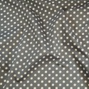 100% Cotton Poplin Fabric Rose & Hubble 7mm Polka Dots Spots Dark Grey