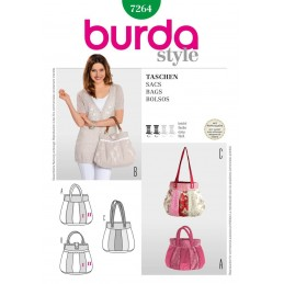 Burda Bag Fabric Sewing Pattern 7264