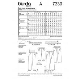 Burda Young Him & Her Sports Leisure Wear Fabric Sewing Pattern 7230