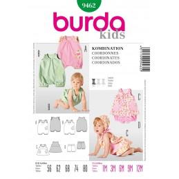Burda Kids Baby Jumpsuit & Dress Fabric Sewing Pattern 9462