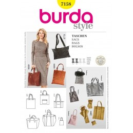 Burda Style BagsFabric Sewing Pattern 7158