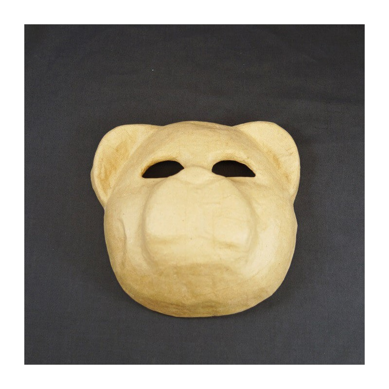 Bear Mask 21cm x 20cm Paper Mache Craft Decorate Dress Up