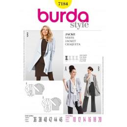 Burda Style Jackets Fabric Sewing Pattern 7184