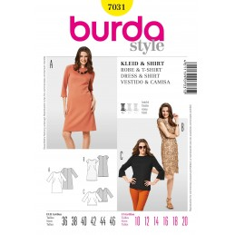 Burda Style Dress & Top Fabric Sewing Pattern 7131