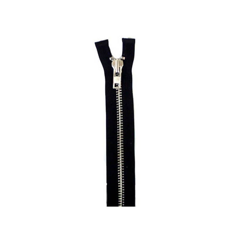 """ZIP OPEN ENDED 76CM 30/"""" 10 WEIGHT METAL SLIDER BLACK CHUNKY HEAVY DUTY"""