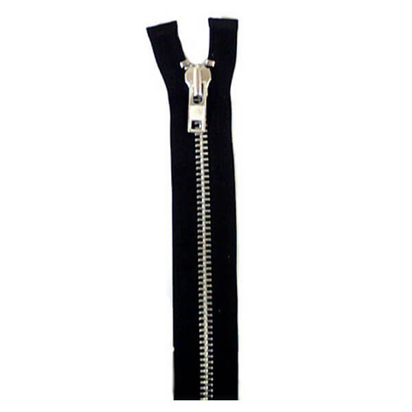 36cm - 76cm Metal Open End Heavy Duty Zip Fastener YKK