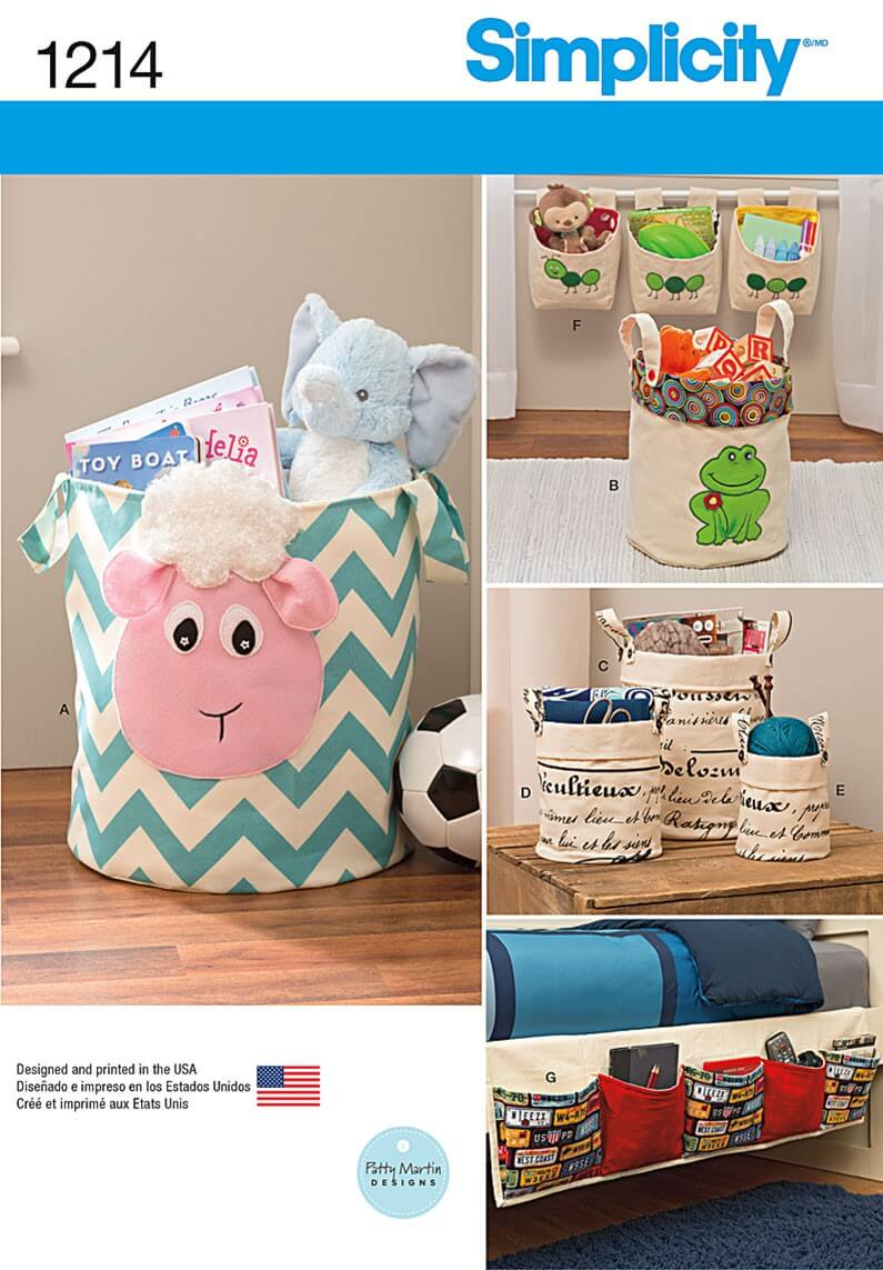 Room Organisers Baskets Storage Craft Simplicity Sewing Patterns 1214
