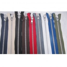 "Metal Open End 180cm / 72"" Zip Fastener YKK 9 Colours"