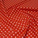 100% Cotton Poplin Fabric Rose & Hubble 7mm Polka Dots Spots Red