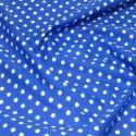 100% Cotton Poplin Fabric Rose & Hubble 7mm Polka Dots Spots Royal Blue