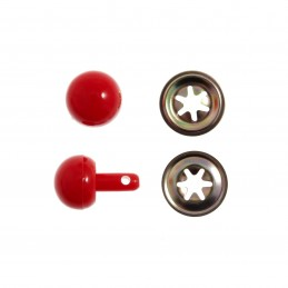 The Craft Factory Ball Noses 15mm Pack Of 5 In Red Or Black