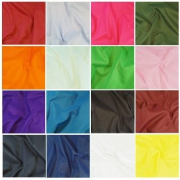 Plain Polycotton Sheeting Fabric 240cm Wide Plain Bed Material