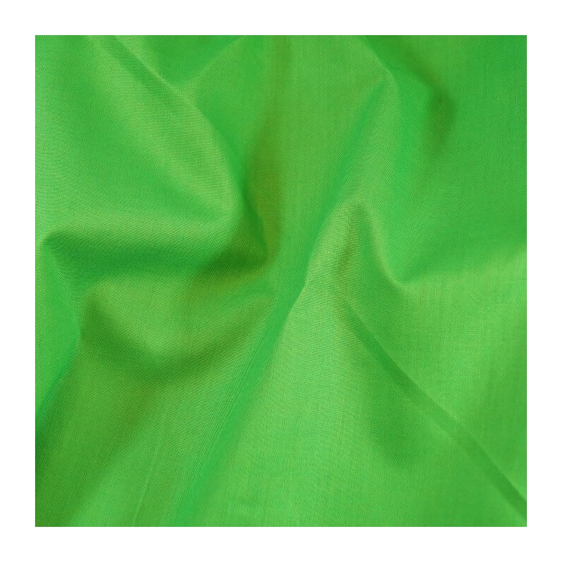 Plain Coloured 100% Cotton Sheeting Fabric Craft Material Green