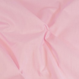 Plain Coloured 100% Cotton Sheeting Fabric Craft Material Baby Pink