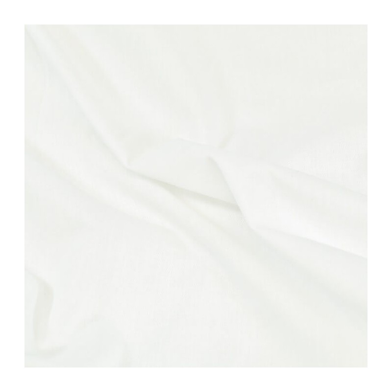 Plain Coloured 100% Cotton Sheeting Fabric Craft Material White