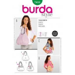 Burda Style Shoulder Bags Fabric Sewing Pattern 7410