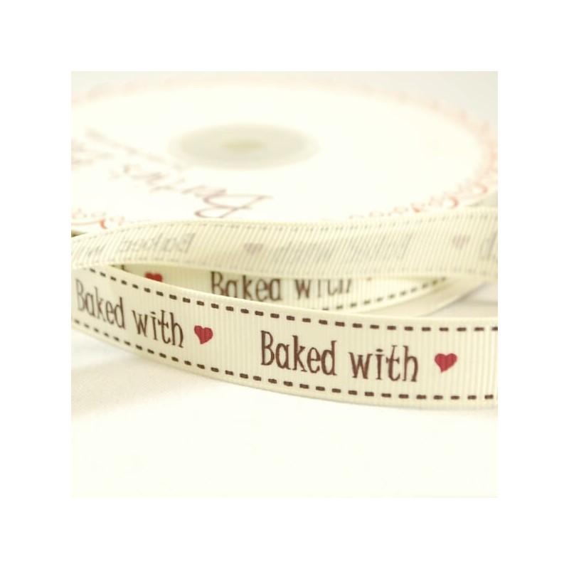 16mm Bertie/'s Love To Sew Buttons Ribbon Grosgrain Heart Craft