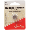 Sew Easy Metal Thimble Non Slip Top Quilting