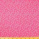 Cerise 100% Cotton Poplin Fabric Rose & Hubble Tiny Stork Flamingo Tossed Bird