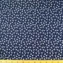 Navy 100% Cotton Poplin Fabric Rose & Hubble Tiny Stork Flamingo Tossed Bird