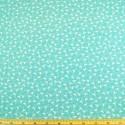Turquoise 100% Cotton Poplin Fabric Rose & Hubble Tiny Stork Flamingo Tossed Bird