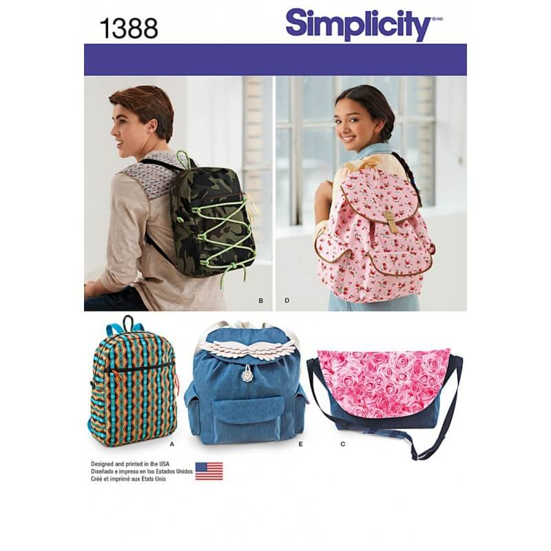 Backpack & Messenger Bag Rucksack Sewing Patterns 1388