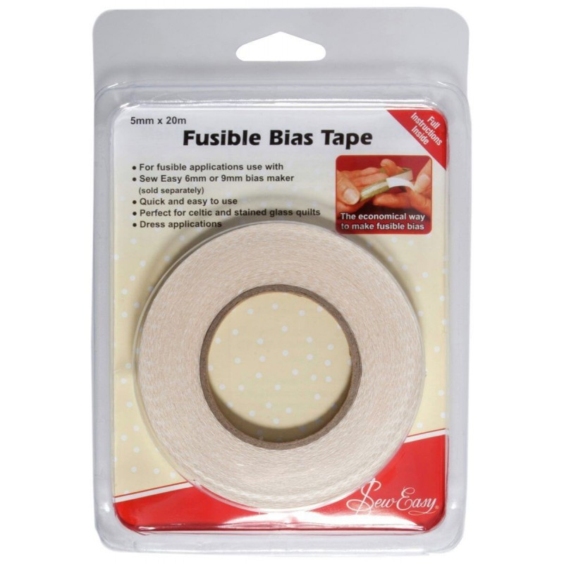 5mm 20 Metres Sew Easy Fusible Iron-On Bias Tape Quilting Patchwork